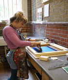 Image of someone Screenprinting